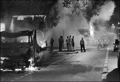 Riots in France 2005, fuelled by poverty & discrimination