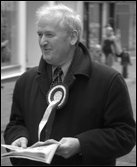 John McAllion enjoys campaigning for the SSP in the recent Dunfermline & West Fife by-election