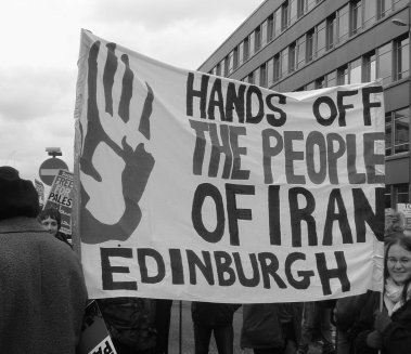 HOPI activists in Glasgow demonstrating against the Iraq war