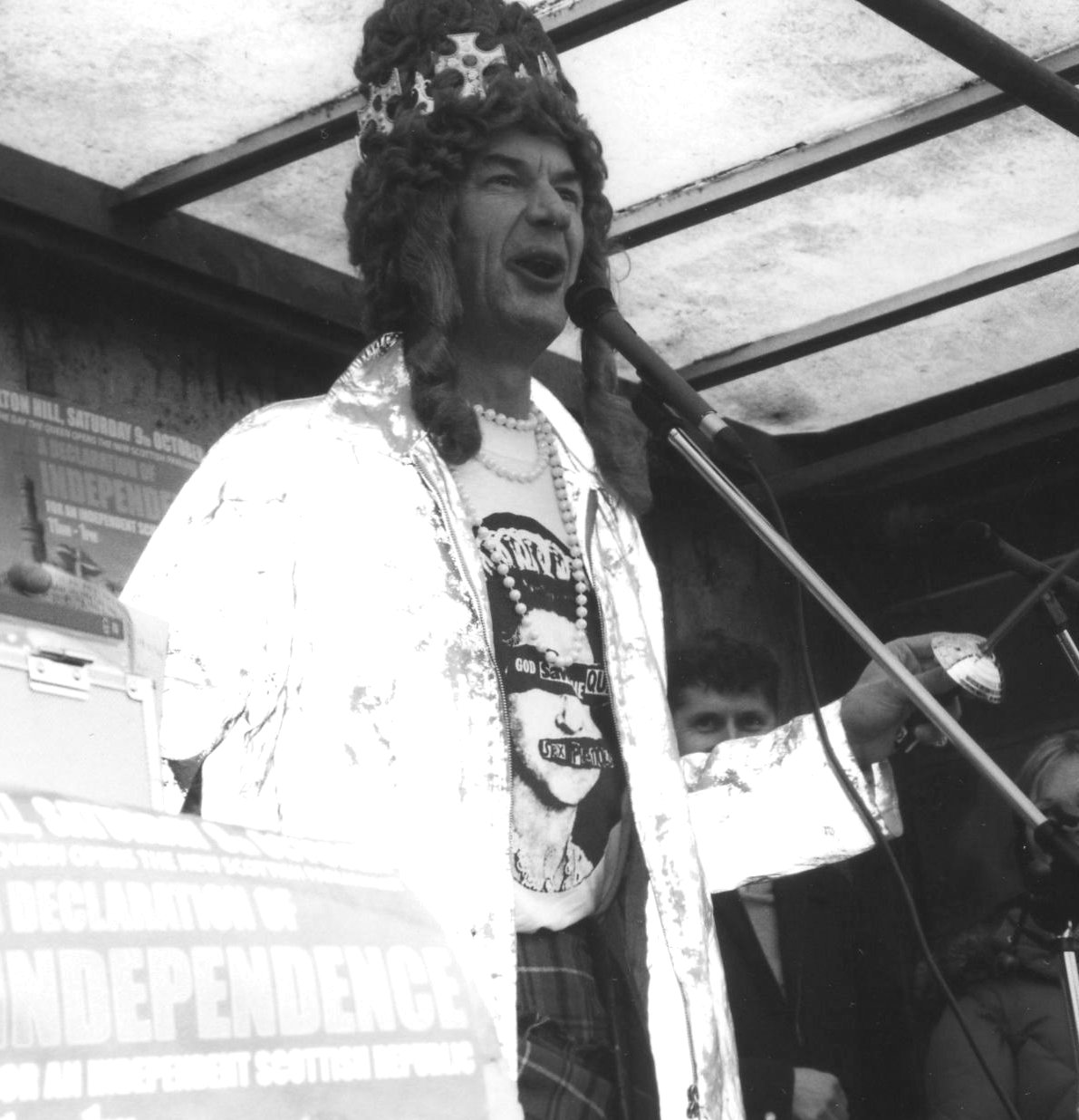 Her Madge at Claton Hill demo, Edinburgh, taken by Myra Armstrong